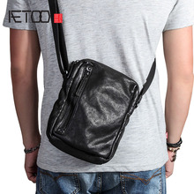 AETOO Casual shoulder bag men's leather small bag