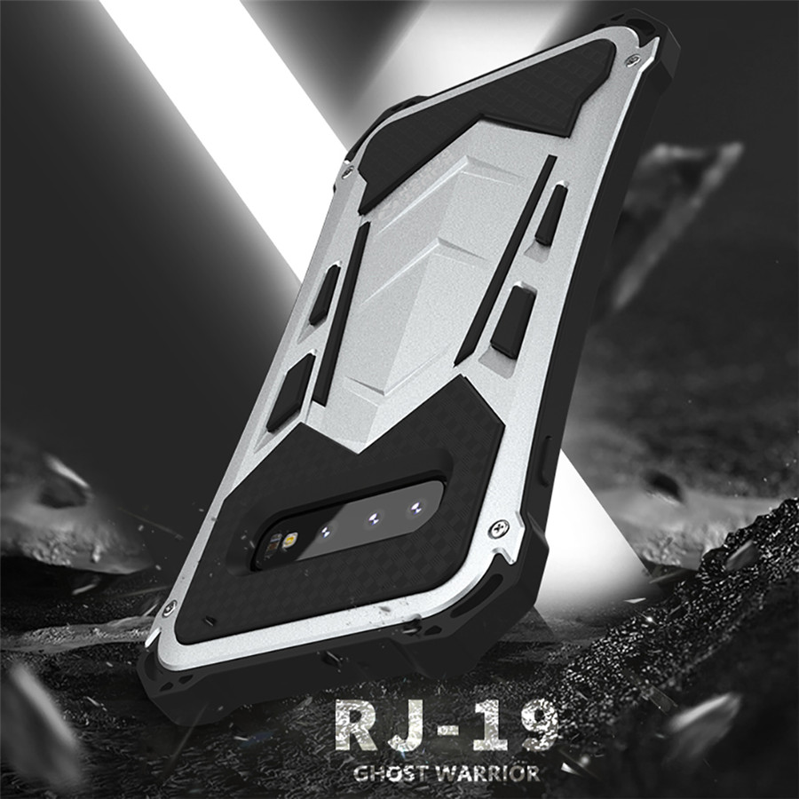 R-Just Metal Aluminum Protective Case For Samsung Galaxy S10 plus Dirt Shockproof Waterproof Armor Case for Samsung S10 Coque