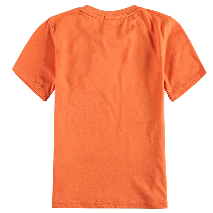 boys orange t shirts kids clothes cartoon boys children t shirts