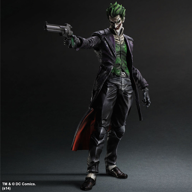 MODEL FANS 26cm PLAY ARTS KAI Batman Arkham Origins The Joker PVC Action Figure Colletible Model Toy gogues gallery two face batman figure batman play arts kai play art kai pvc action figure bat man bruce wayne 26cm doll toy
