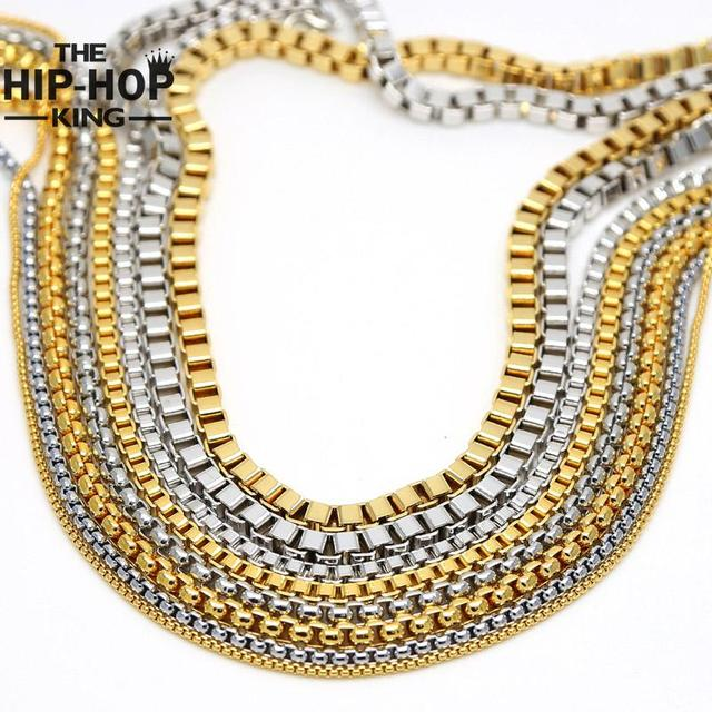 Mens gold silver iced out hip hop rapper box chain 2016 hot sale mens gold silver iced out hip hop rapper box chain 2016 hot sale high promotion new aloadofball Images