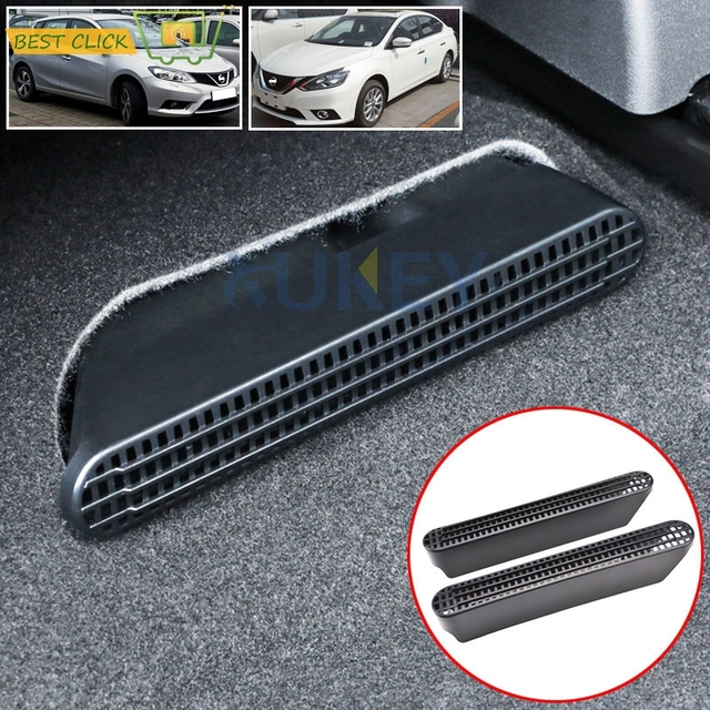 Under Seat Air Flow Vent Ac Heat Duct Grill Cover For Nissan Sentra Sylphy Pulsar Tiida C13 2017 2016 2018