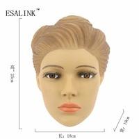 Modny PVC Kobiet Plastikowe Piękne Kobiety Głowa Głowa Manekina Model