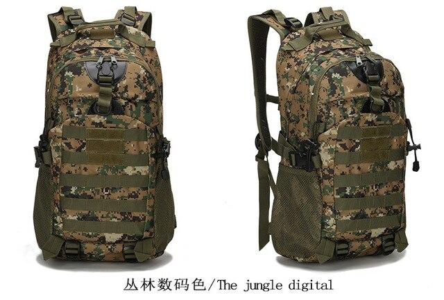 Men S Tactical Backpack Backpacks Travel Bags Outdoor Sport Hiking Blcak  Rucksack Army Bag Military Men 60da52cdfb9