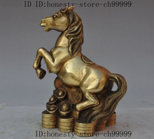 christmas china fengshui brass wealth money coin ingot animal horse steed success statue halloween - Halloween Statues