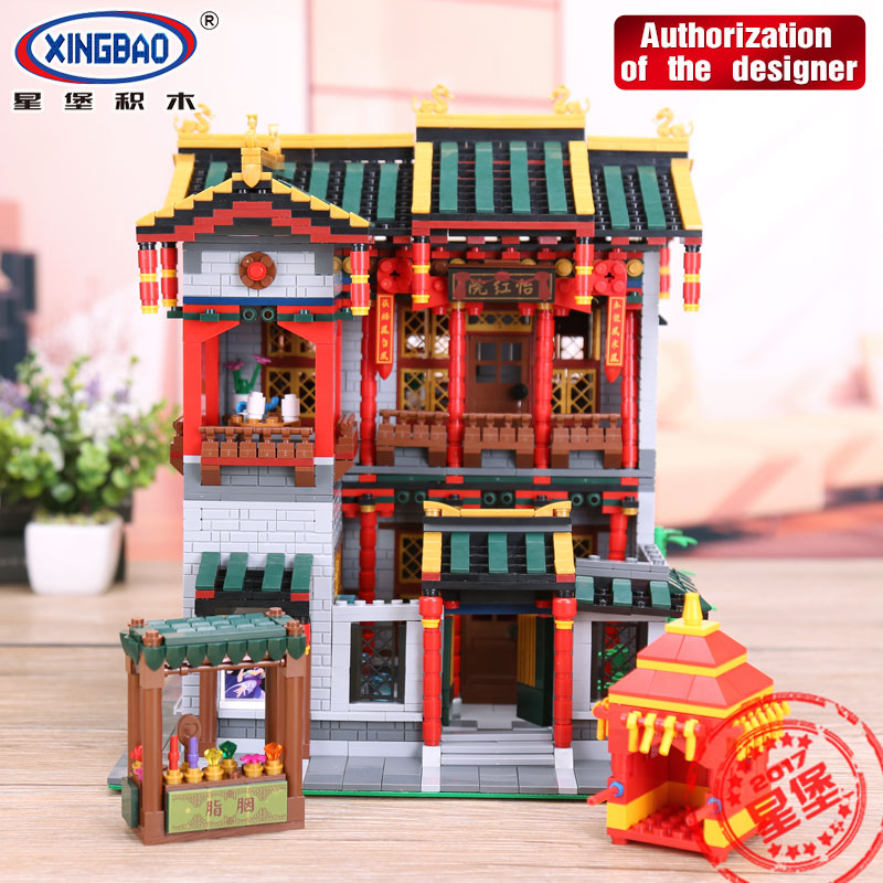 XINGBAO 01003 MOC Series The Chinese Traditional Architecture Set Children Educational Building Blocks Bricks Toys Gifts 3320Pcs the character analysis of the chinese traditional architecture by liang sicheng handai building