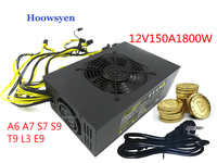 Riser Mining Case Eth DASH 12V 150A 1800W Power Supply ATX Miners RX 470 480 RX