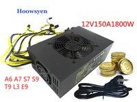 Riser Mining Case Eth DASH 12V 150A 1800W Power Supply ATX Miners RX 470 480 RX