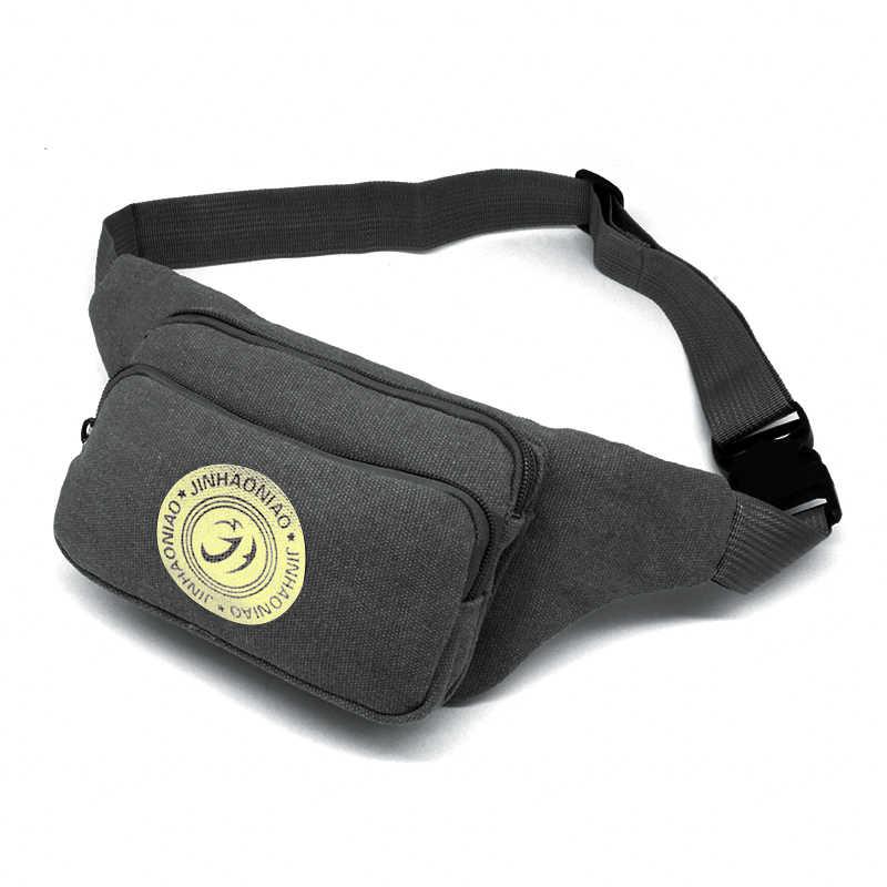 5d03b069909a 4 цвета Мужская холщовая поясная сумка Хип-ремень сумка через плечо сумка  кошелек барсетка унисекс