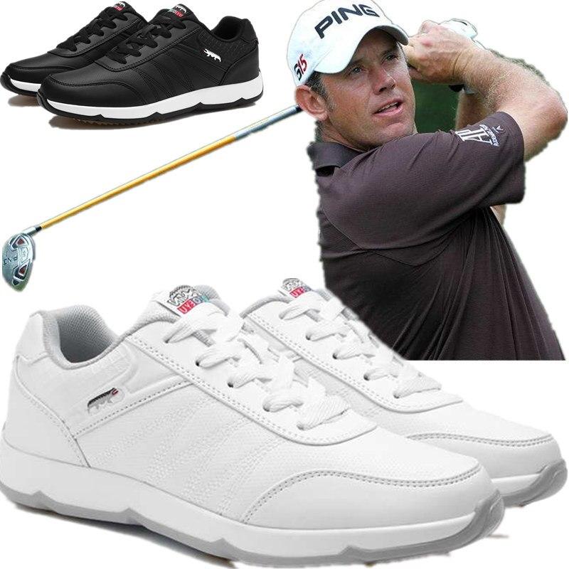 Chaussures de golf pour hommes chaussures de Golf en cuir pour hommes chaussures de sport antidérapantes
