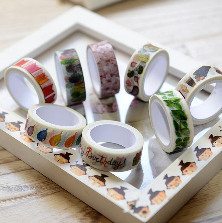 online kopen? 34% Korting 3J301 309 QYLIFE New Arrival Colorful Painting Washi Tape DIY