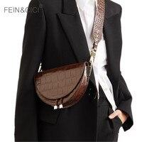 Eyer çantası hayvan baskı timsah deri çanta yuvarlak çanta kadın vintage yarım ay çanta 2019 yeni ins moda toptan