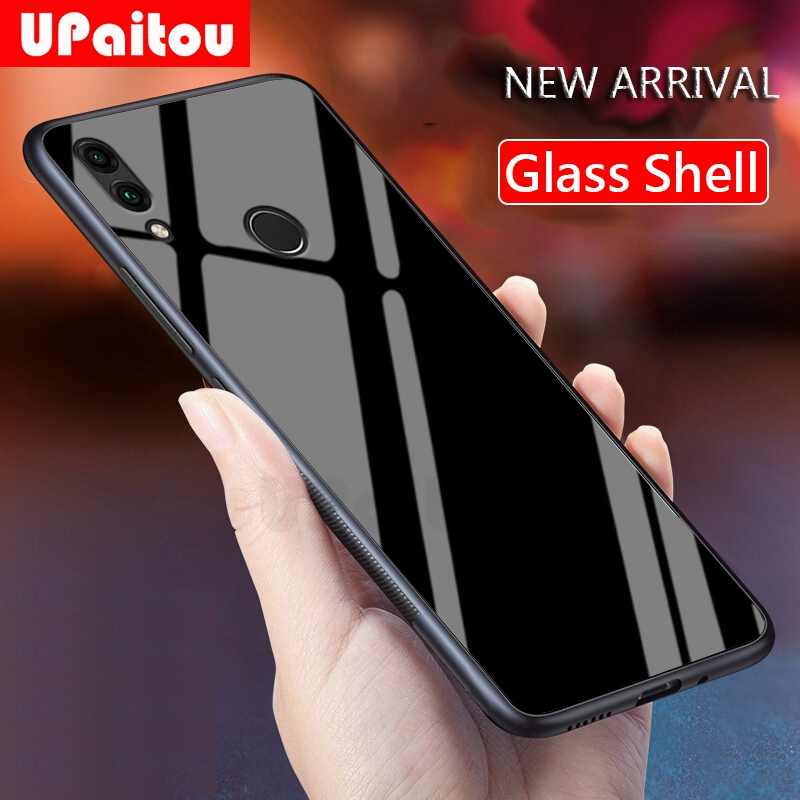 UPaitou Роскошный чехол из закаленного стекла для huawei Honor 8C 8X Max Magic 2 Play TPU Рамка бампер противоударный чехол