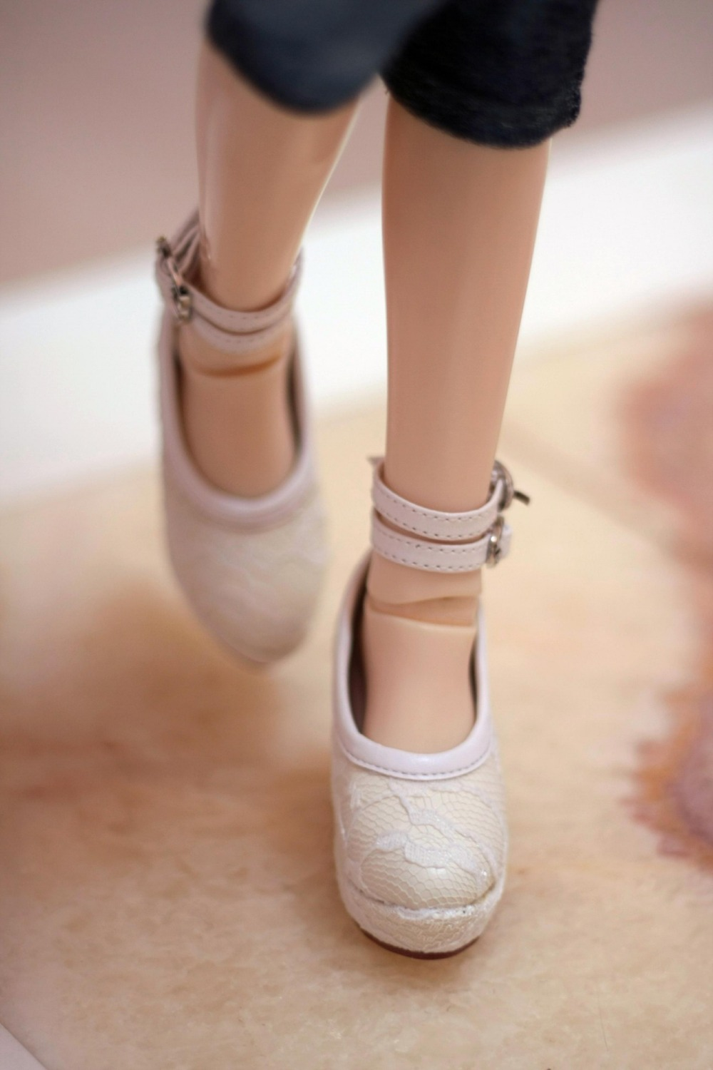 BJD  doll shoes Doll accessories white lace shoes 1/3 SD13 SD10 size