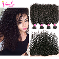 Water Wave Brazilian Hair Ear to Ear Lace Frontal Closure With Bundles Curly Weave Human Hair Wet And Wavy Brazilian Virgin Hair