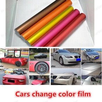 20x150cm Car Change Color Fiber Film Car Sticker Plating Matte filmcar styling