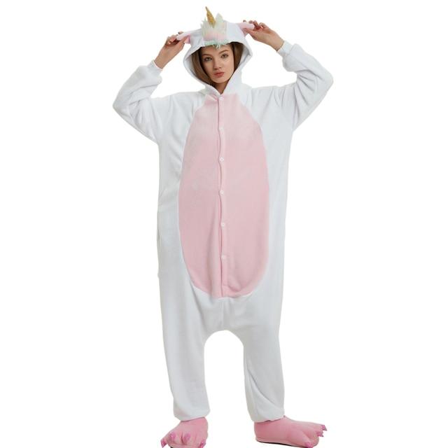 New Adult Animal Golden Horn Pegasus Unicorn Pajamas For Women Men Winter  Flannel Soft Sleepwear Onesie Unisex Cartoon Cosplay 501e411c5
