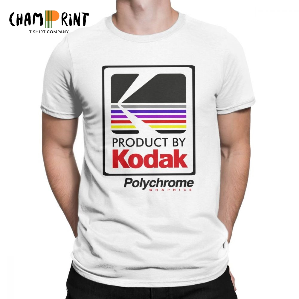 Kodak Polychrome Bomber Awesome   T     Shirt   Men Short Sleeve Tops Classic Tee   Shirt   100% Cotton Crewneck   T  -  Shirts