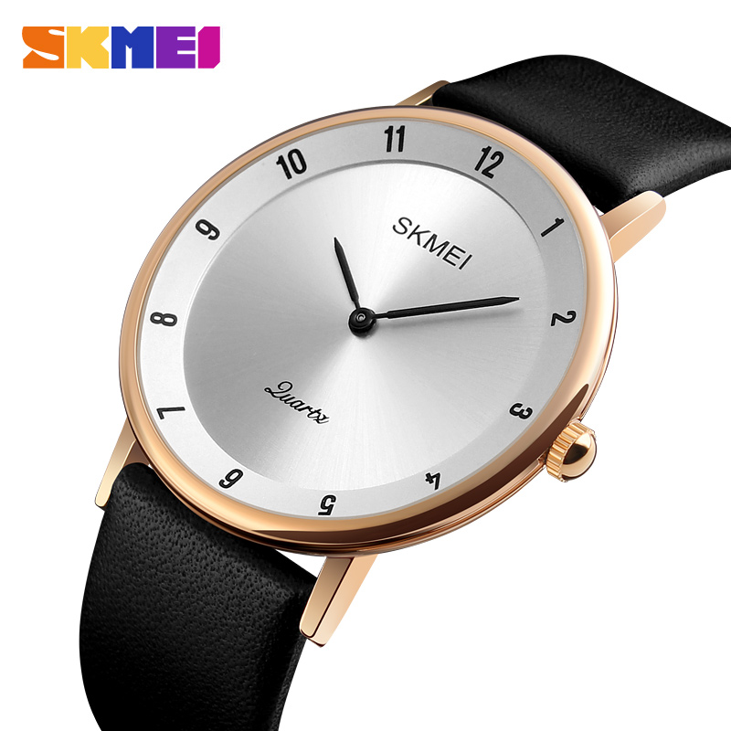 Fashion Simple Men Watch Clock SKMEI Mens Watches Top Brand Luxury Man Quartz Wristwatches Leather Waterproof Relogio Masculino forsining fashion brand men simple casual automatic mechanical watches mens leather band creative wristwatches relogio masculino