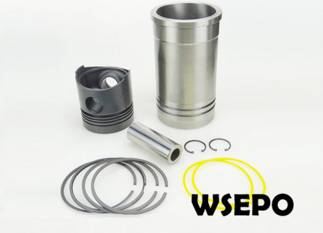 OEM Quality! Cylinder Sleeve+Piston (6PC) Kit for Direct Injection ZS1100 4 Stroke Small Water Cooled Diesel Engine 38mm cylinder barrel piston kit