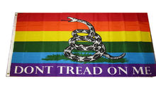 free shipping Gadsden Dont Tread on Me Rainbow Gay Pride Flag 3x5ft Brass Grommets