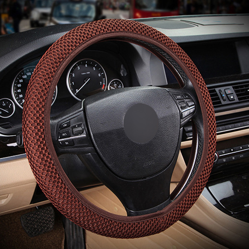 HuiER Car Steering Wheel Cover Steering Cover 6 Colors Anti-slip Breathable Car Styling Automobile Universal Auto Steering Wheel
