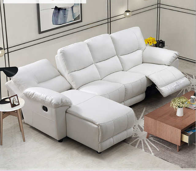 Living Room Sofa set L corner sofa recliner electric couch genuine leather  sectional sofas L muebles de sala moveis para casa