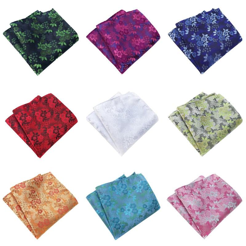 CityRaider Brand Designer Yellow Silk Handkerchiefs For Men Green Cotton Pocket Square White Blue Purple C040
