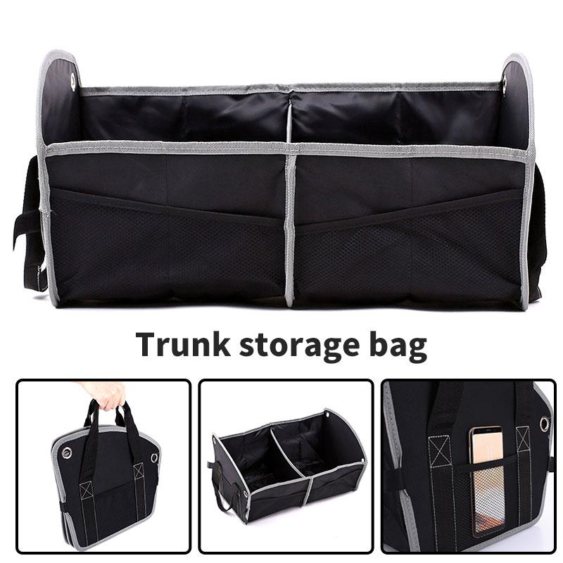Vehemo мульти-карманный черный Автомобильный багажник для хранения багажника Универсальный внедорожник мульти-использование автоматическое хранение два отделения автомобиля