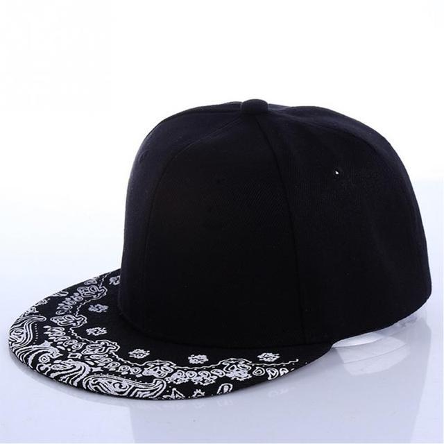 Weiß Paisley Muster Schwarz Hut Neue Mode Im Freien Mann Frauen ...
