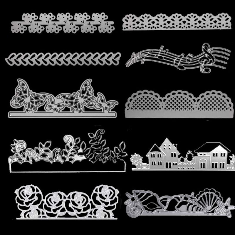 Lace Metal Cutting Dies For Diy Stamp Scrapbooking Photo Album Embossing Paper Wedding Cards Making Decorative Crafts Party Gift