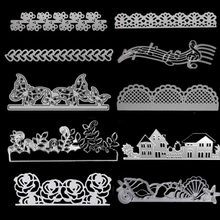 Lace Metal Cutting Dies For DIY Stamp Scrapbooking Photo Album Embossing Paper Wedding Cards Making Decorative Crafts Party Gift(China)