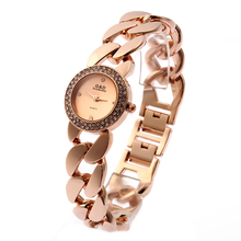 цены на 2016 New Fashion Women's Wrist Watch Analog Quartz Watches Stainless Steel Bracelet  Rose Gold  в интернет-магазинах