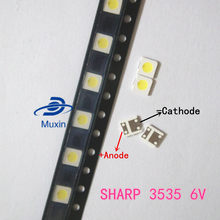 1000 pçs/lote para sharp led tv aplicação lcd backlight para tv led backlight 1.2 w 6 v 3535 3537 legal branco gm5f20bh20a