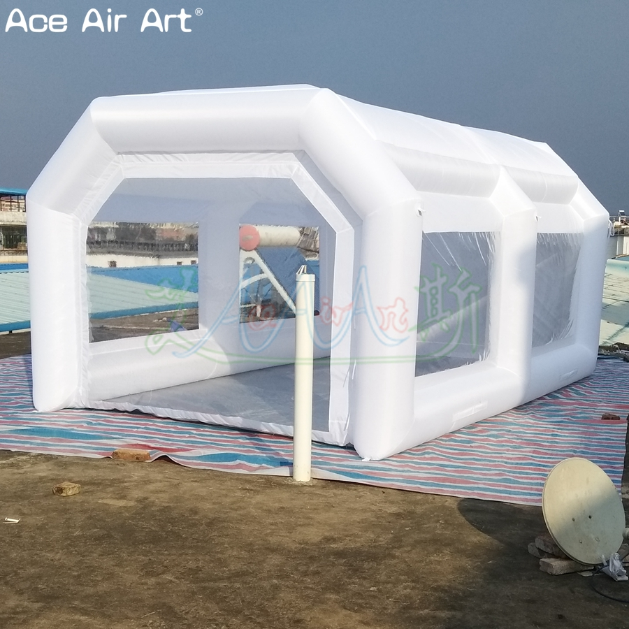 5m L Portable and mini car paiting inflatable spray booth ...