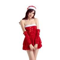 New Sexy Lingerie Intima Fetish & Costumi Europa All'ingrosso Di Natale Vestito Delle Donne Del Merletto Red Dress Halloween