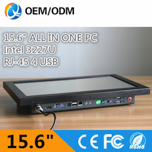 15.6 inch industrial pc panel industrial touch screen pc with intel i3 cpu all in one pc resolution 1366×768