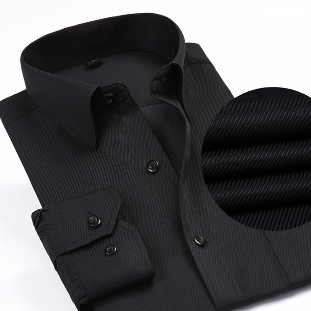 Solid Color Turn-Down Collar Formal Shirts 5
