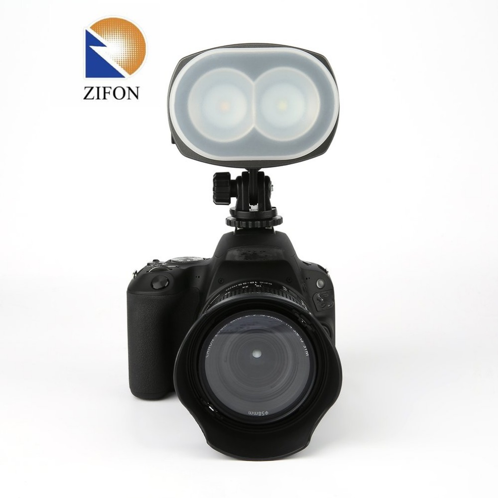 ZIFON ZF-2000 Portable LED Video Light Photographic Lighting for Camera SLR Professional Video and Photo Taking Super Brightness mini 5 5mm camera diameter dust proof and waterproof recordable video adjustable led lights video and photo browsing