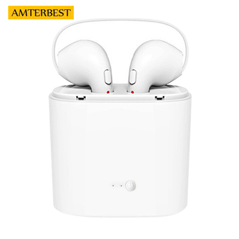 AMTERBEST I7 I9S I8X Wireless Bluetooth Earphone In-Ear Invisible Earbud Headphone Stereo Headset for iPhone SUMSAUNG Android