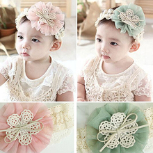 Hot Fashion Cute Lace Flower Kids Baby Girl Toddler Headband Hair Band Headwear Accessories 6KIU 7EMX