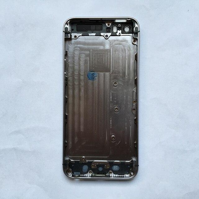 OEM Бренд Золото Полный Жилищно Вернуться Батарейного Отсека Крышка Середина Рамка Ассамблея Части для iPhone 5S, отслеживая Номер Бесплатная Доставка