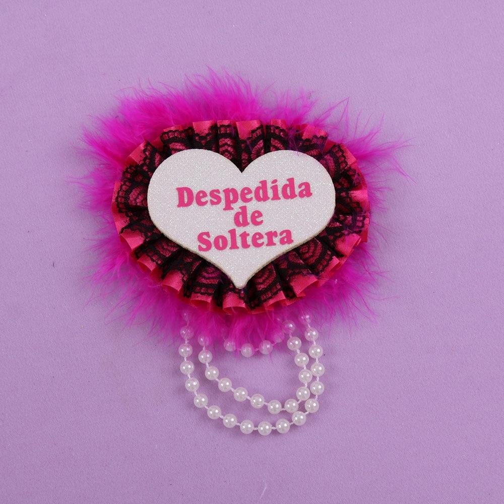 Heart Spanish bachelorette badge 50% off for 3pcs bridal event ...