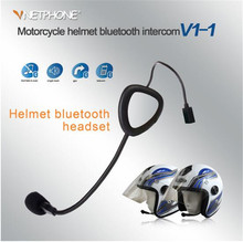 VNETPHONE Motorcycle Bluetooth Intercom Helmet Headset 5 People At The Same TimeWireless 1200m
