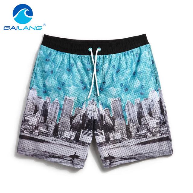 Gailang Marca 2017 Nuevos Hombres pantalones cortos de playa, mens Trajes de Baño Trajes de Baño pantalones cortos boardshorts bermudas masculina de marca