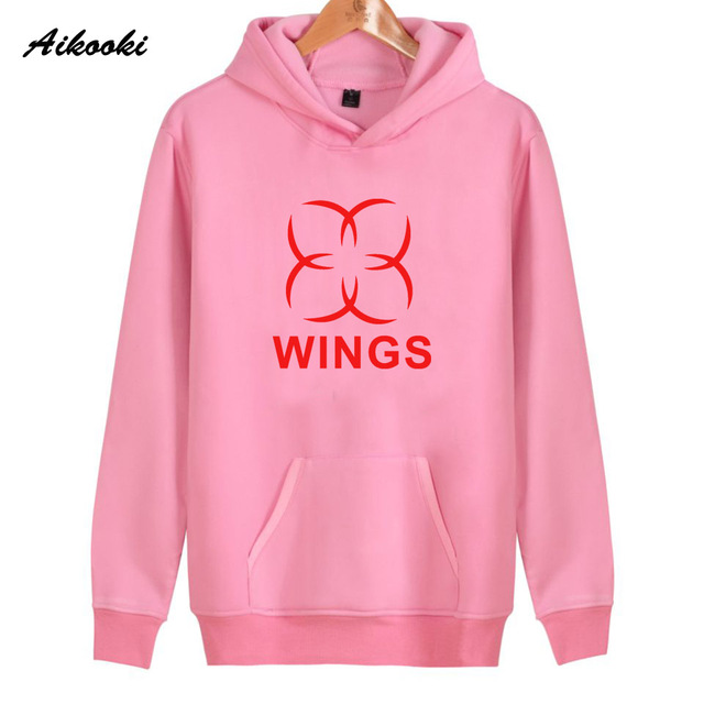 7bf1e103ecd9f 2018 Aikooki BTS Wings Hoodies Women Men Cotton Harajuku Pink Women s  Hoodies and Sweatshirt BTS WINGS Fashion Hoodies Clothes