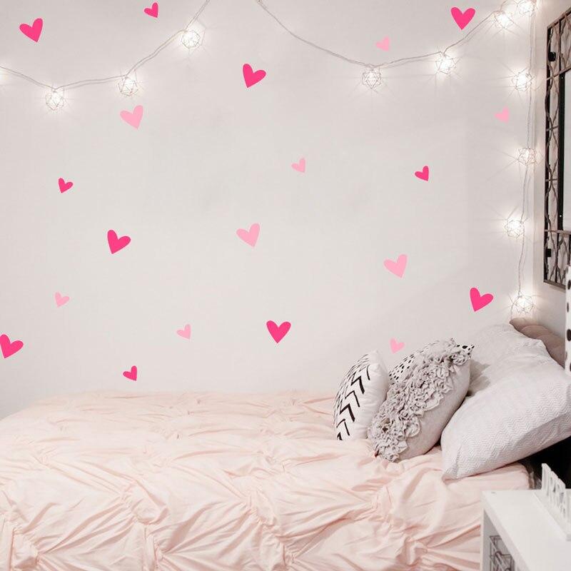 Heart Wall Sticker font b Baby b font Nursery Love Heart Wall Decal Kids Room DIY