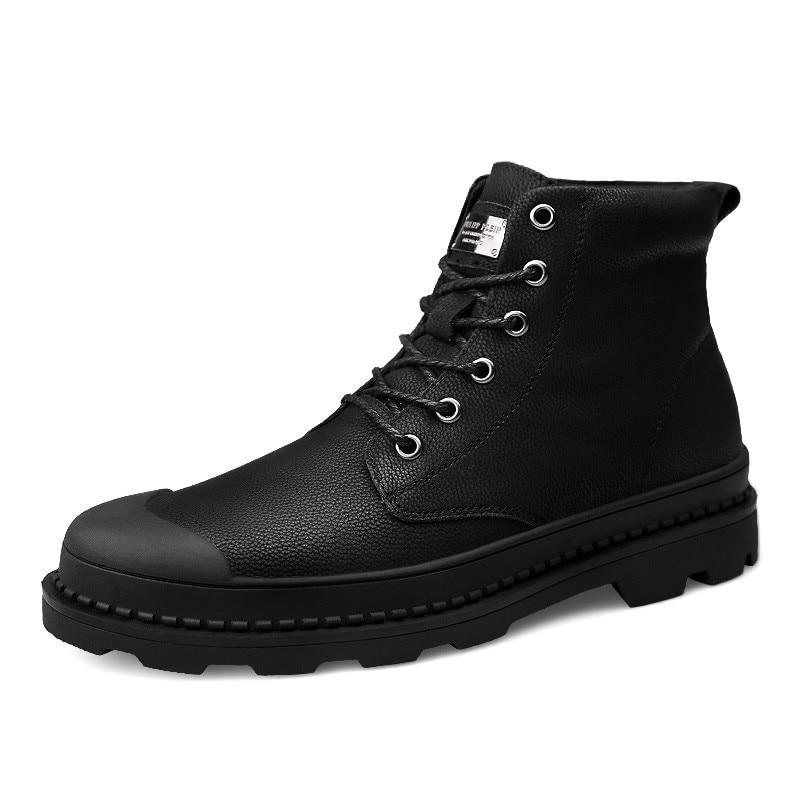 493c0c132ee Plein Bottines 1mblack Hommes Haute Chaussures Véritable Travail  Imperméables Qualité Hd1798 Automne Cuir Bottes D hiver Air ...