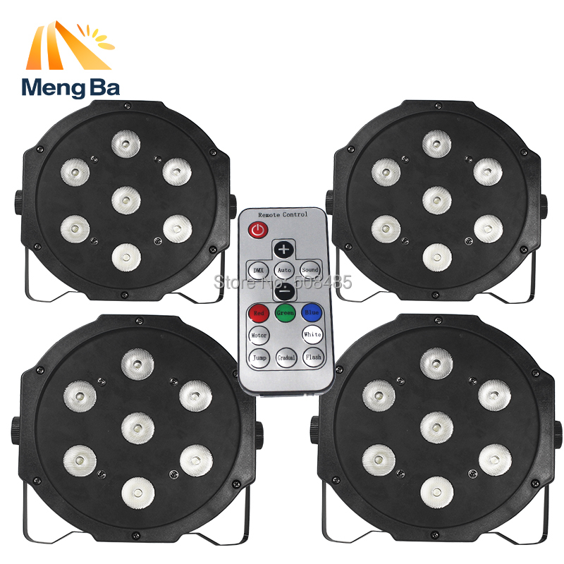4PCS Wireless remote control 2017 7x9W RGB DMX Led Flat Par High Power Light with Professional for Party KTV Disco DJ4PCS Wireless remote control 2017 7x9W RGB DMX Led Flat Par High Power Light with Professional for Party KTV Disco DJ