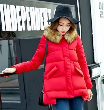 2017 las mujeres Embarazadas ropa de maternidad del invierno abajo chaqueta suelta Una Línea de algodón de gran tamaño grueso abrigo de maternidad SZ1105